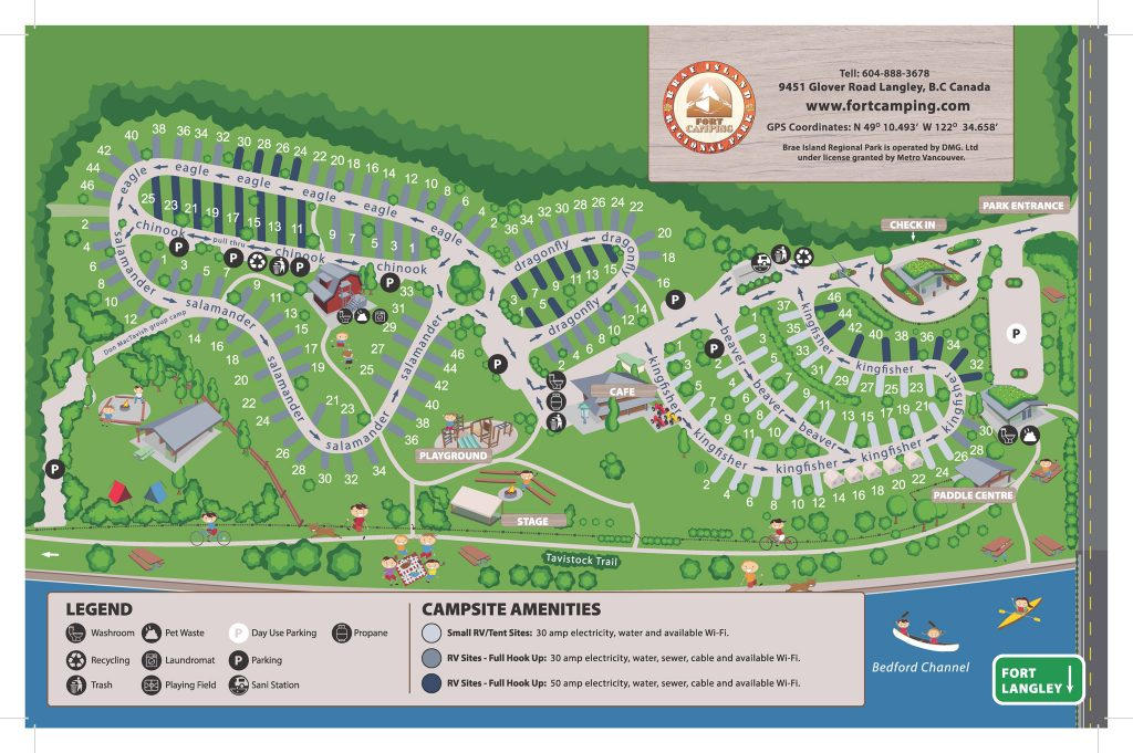 Fort Camping Campground Map